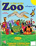 A Day at the Zoo Coloring Book (8. 5 X11 ), Really Big Coloring Books Staff, 1935266071