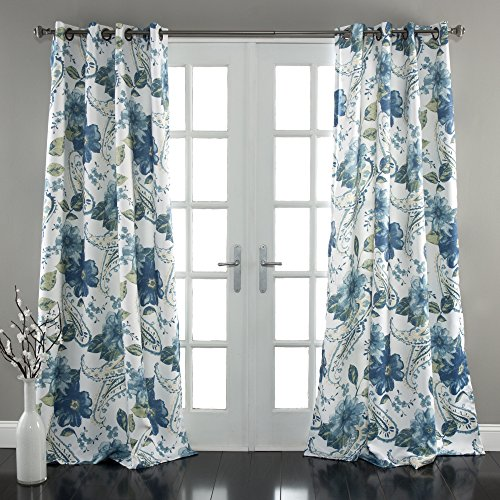Lush Decor Floral Paisley Window Curtain Panel (Set of 2), 84
