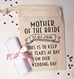 Mother of the bride small gift bag and cotton handkerchief To keep the tears at bay on our wedding day