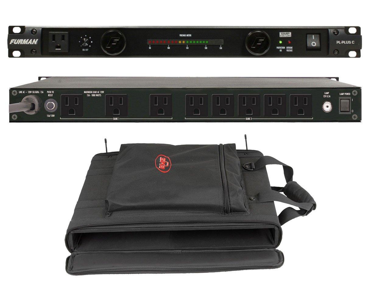 Furman PL-Plus C 15 Amp Power Conditioner + SKB 1SKB-SC191U 1U Shoulder Bag
