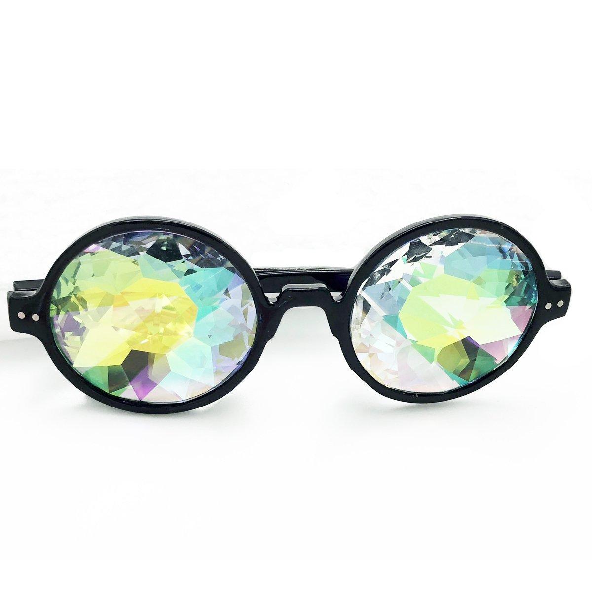 Kaleidoscope Glasses Rainbow Lens Festivals Rainbow Prism Sunglasses Goggles by Winroor