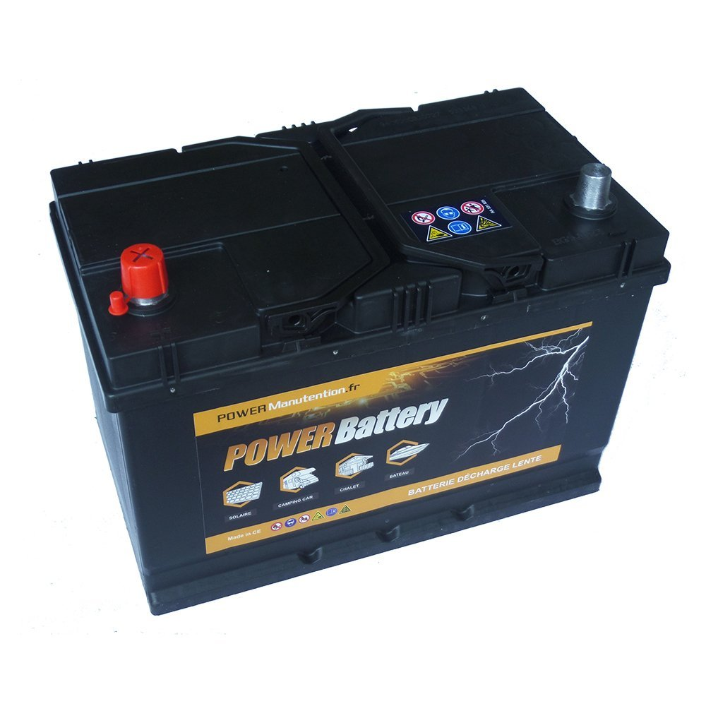 Batterie dé charge lente camping car bateau 12v 75ah 266x175x225mm BATTERY