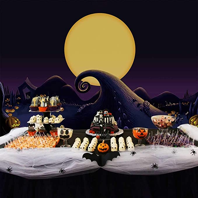 Allenjoy 7x5ft Nightmare Before Christmas Themed Backdrop For 2019 Halloween Pumpkin Jack Theme Birthday Baby Shower Photo Studio Photography Pictures