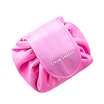 d0fca2a228b0 VAVABOX Lazy Cosmetic Bag Drawstring Travel Makeup Bag Pouch Multifunction  Storage Portable...