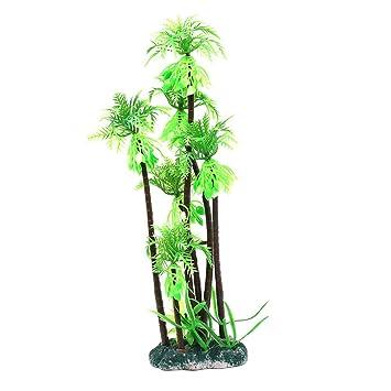 Dimart plástico de coco natural pecera, Plant Simulación adornos para árbol de Navidad (Verde): Amazon.es: Productos para mascotas