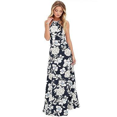 c2a0d84916f Image Unavailable. Image not available for. Color  Vintage Floral Print  Summer Long Maxi Dress Off Shoulder Women Causal Dress Plus Size ...