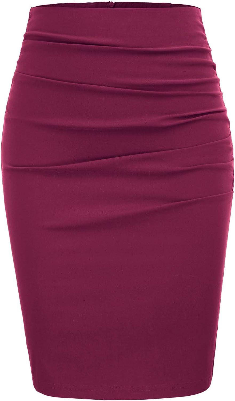 GRACE KARIN Mujer Falda de Tubo Corta Lápiz Cintura Alta Formal Negocio