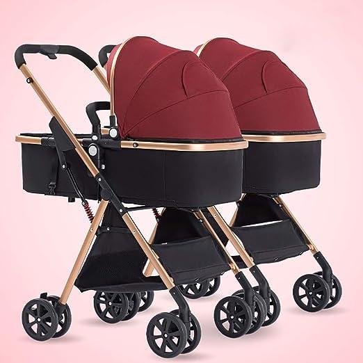 Byx Los cochecitos de bebé Gemelos se Pueden sentar y Desmontable ...