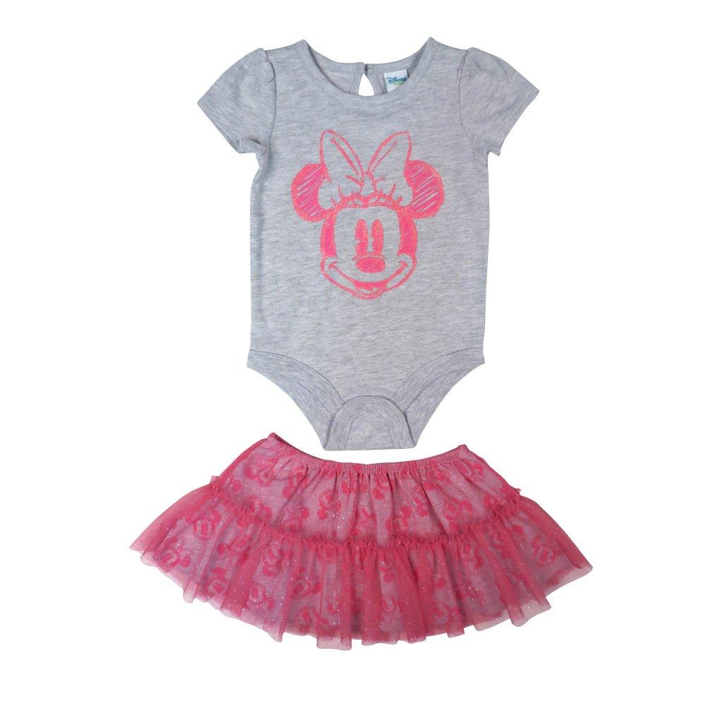 Disney Baby Girl's Minnie Tutu/Creeper Skirt Set, Grey, 9M DS18IG475