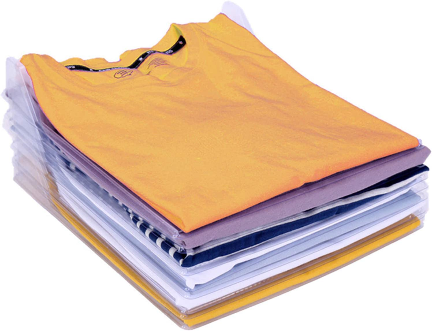 Nifogo Armario Organizador,Organizador de armarios,Organizador de Camisa Plegable,Camiseta Carpeta -Antiarrugas, para Guardar Ropa (60 Pack)