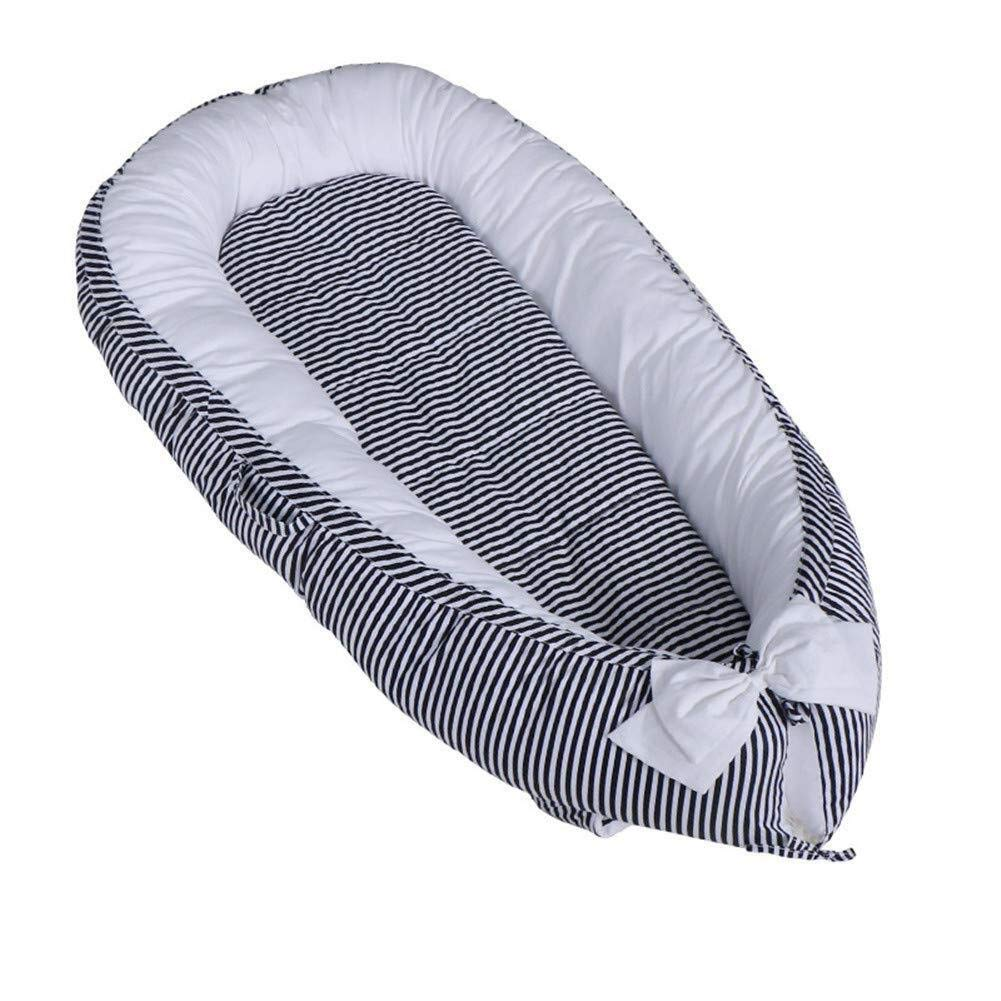 ETERLY Striped 100% Cotton Bionic Bed Luxury 襁褓 Wrapped Soft Breathable Washable and Detachable Newborn Baby Sleep nest 80x50 cm (Color : 2) by ETERLY