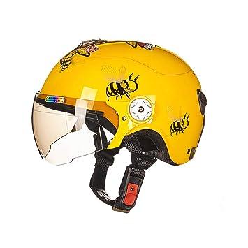 Aishankra As108 Casco para Niños Bicicleta Equilibrio Casco De Coche Sola Rueda Deslizante Casco De Equitación Equipo De Equipo De Protección,Yellow,M: ...