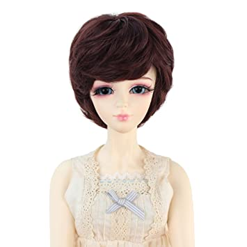 Short Black Wigs with Bangs