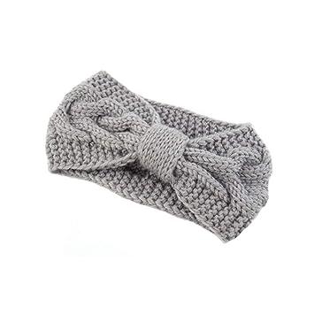 Taottao Twist Bogen Handmade Stricken Kreuz Wolle Haarband Frauen