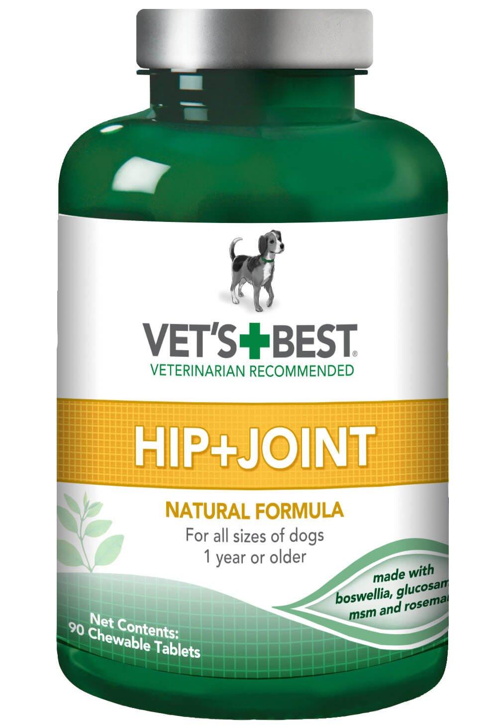 Vet S Best Hip & Joint Dog Compléments, 90comprimés à croquer Bramton Company 3165810240