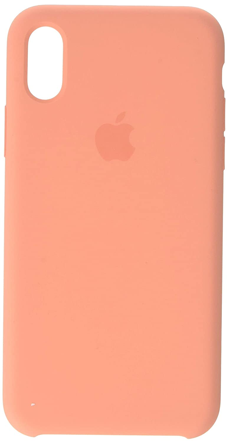 new styles 23579 5545b Apple Silicone Case (for iPhone X) - Peach