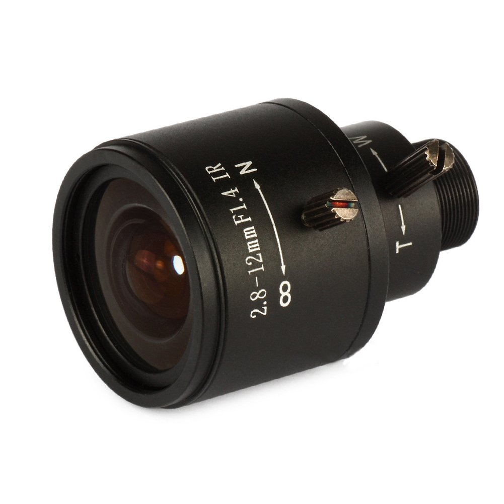 2.8-12mm 1/3'' F1.4 CCTV Video Vari-focal Zoom Lens for CCTV Security Camera by Generic