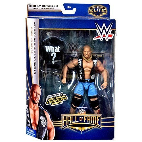 Prannoi WWE Wrestling Elite Collection Hall of Fame Stone Cold Steve Austin 6 Action Figure (Stone Cold Steve Austin Hall Of Fame Figure)
