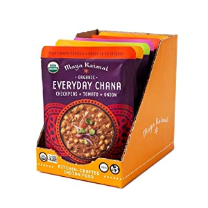 Maya Kaimal Foods Organic Indian Everyday Chana Variety Pack, 10 Oz (Pack Of 6), Vegan, Microwavable, Ready To Eat. Fully Cooked., 6Count