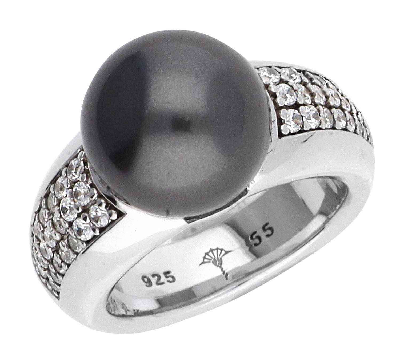 Joop Women Ring 925 silver silver/black JPRG90481F, ring