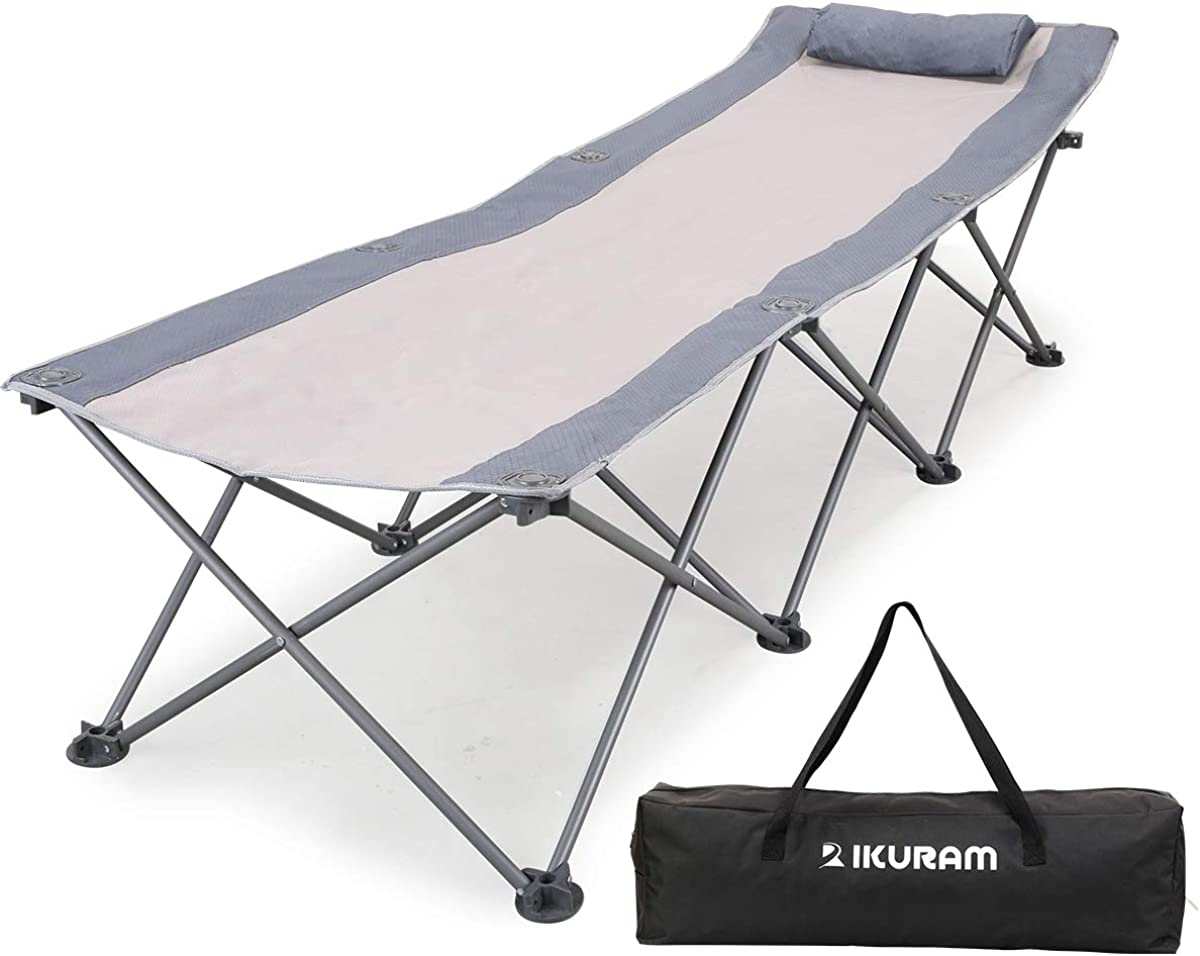 - Amazon.com: IKURAM Folding Camping Cot With Side Storage Bag