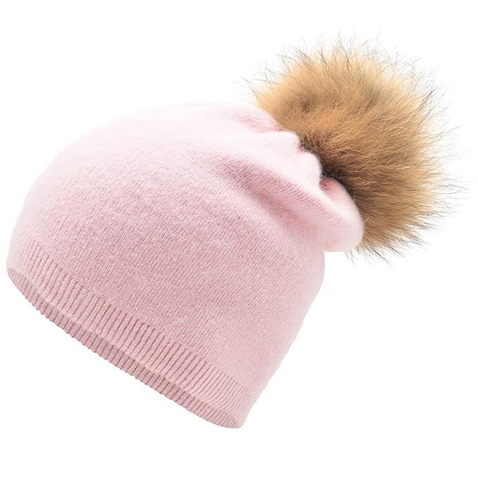 38452e2831d GESDY Women Cashmere Wool Blend Knitted Skull Hat Beanie Winter Warm ...