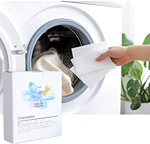 Laundry Anti-Staining Film Laundry Sheet Laundry Paper Washing Machine Use Mixed Proof Color Absorption Sheet - Laundry Balls Discs (1 Box)