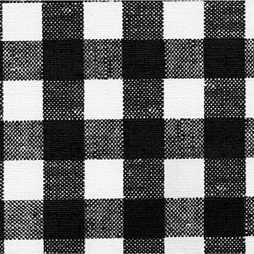 - Marko Square Black Check Vinyl Tablecloth - 52