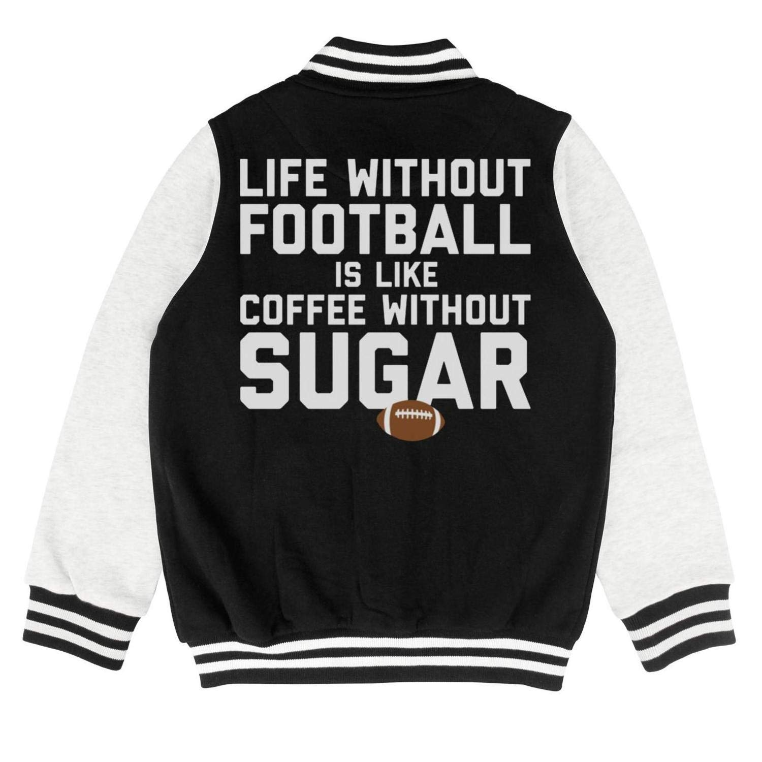 FPFLY Kids Girls Boys Life-Without-Football Printed Cotton Hoodie Button Sport Sweatershirt 2-10 Years