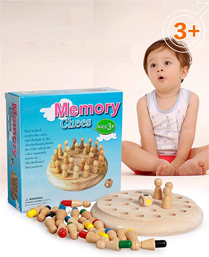 LYPXX Wooden Memory Match Stick Chess Game, Juegos Mesa Interacción Bloques Diversión Familiar, Rompecabezas para Niños, Juguetes Educativos Regalos Entrenamiento Cognitivo en Color: Amazon.es: Hogar