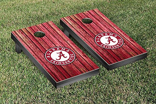 NCAA Alabama Crimson Tide Weathered Version Cornhole Game Set by Victory Tailgate