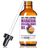 Maracuja (Passion Fruit) Seed Facial Oil by Renewalize   Anti-Aging Skin Moisturizer for Face   Cold Pressed and Unrefined   For All Skin Types   large 4 fl oz bottle