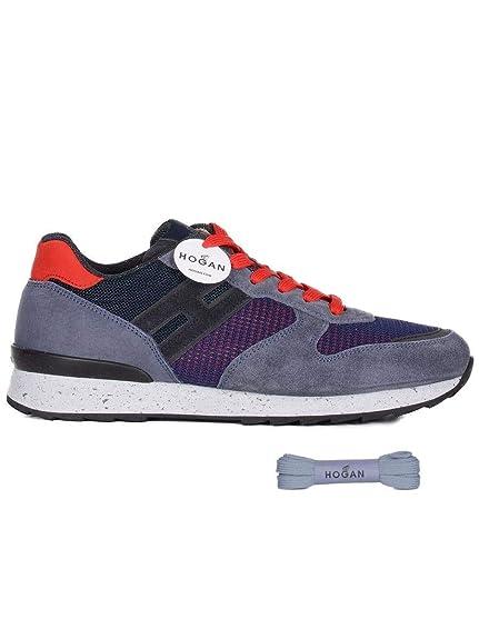 Hogan Hombre Hxm2610r676ihs0pd3 Azul Gamuza Zapatillas: Amazon.es: Zapatos y complementos