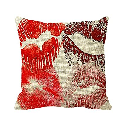 Amazon Starings Pillowcase Red Lips Color Types Decorative Amazing Pillow Types Decorative