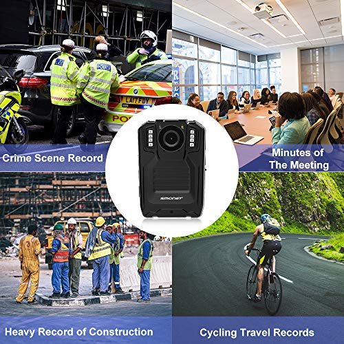 SMONET 【2019 New】 Body Camera with Audio, HD Multifunctional Police Body Cameras for Law Enforcement,Security Guard,Waterproof Body Worn Camera with Night Vision,2 Inch Display Video,Wide Angle(32GB) by SMONET (Image #2)