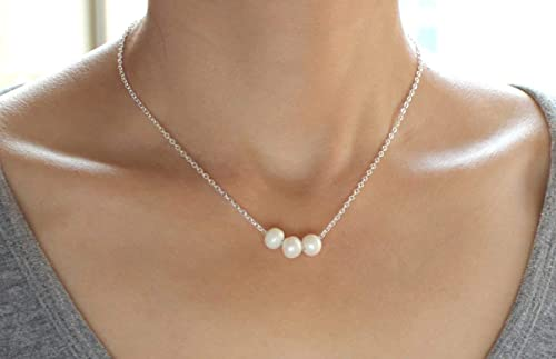 Brides Necklace Natural Freshwater Pearl Necklace Bridesmaids Necklace