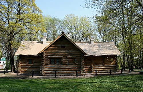 Home Comforts LAMINATED POSTER Wood Cabin Hut Brown Log Cabin Historic Poster 24x16 Adhesive - Historic Log