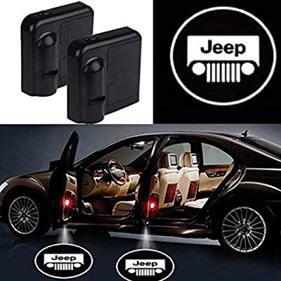 2Pcs Car Door Welcome Light Universal Wireless Car Projection LED Projector Logo Light Suitable For Jeep/Ford/Honda (Jeep): Automotive [5Bkhe2002997]
