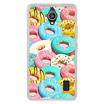 BJJ Funda Transparente para [ Huawei Y635 ], Carcasa de Silicona Flexible TPU, diseño: Donuts azucar Glass Diversidad