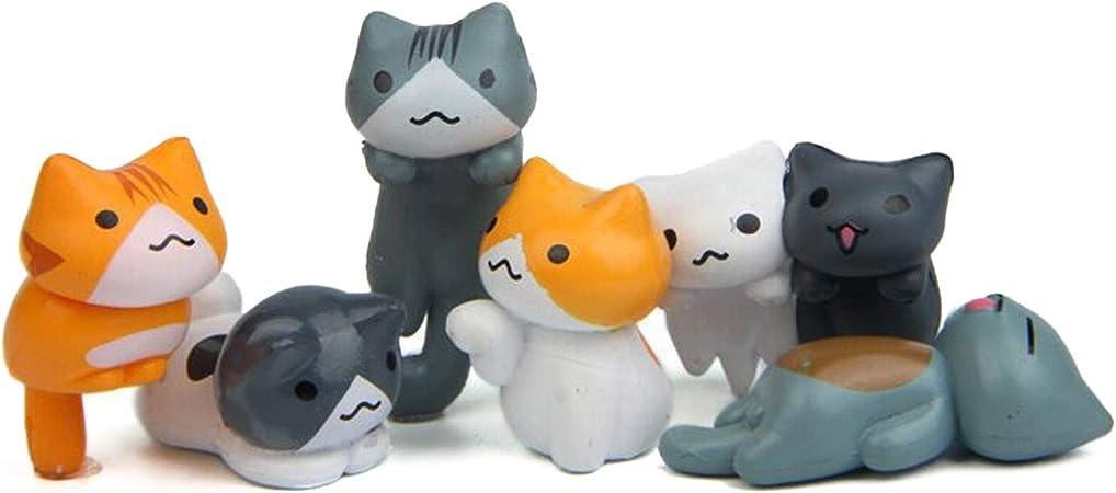 6Pcs Miniature Cat figurine Modèle Fée Jardin Paysage Jardin Bonsai decor