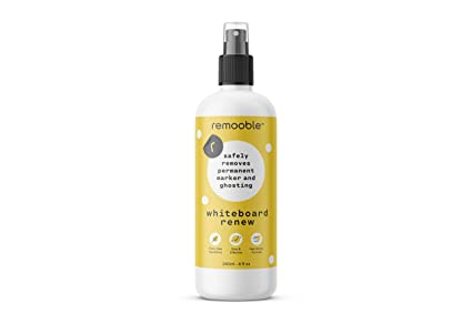 Remooble Dry Erase Whiteboard Cleaner - Safe, non-toxic liquid cleaner erases dry erase marker, paint, liquid chalk & permanent marker from ...