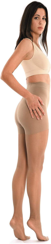 SCUDOTEX Collant 70 Deniers Maille Tricot/ée Compression D/écroissante Moyenne 15-18 Hg mm Couleur Clearesse Taille 2