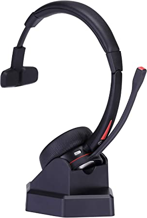 Amazon Com Wireless Headset With Microphone For Office Over The Head Truck Headset Wireless Headphone For Cell Phone Home Audio Theater