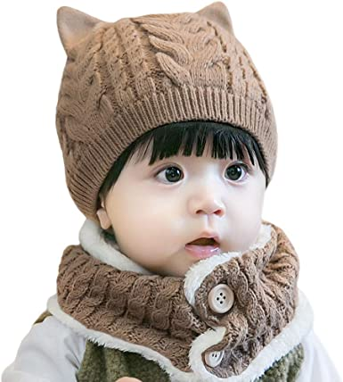 Crochet Winter Outfit Baby Gift Clothes. Infant Girl Clothes Animal Baby Outfit Knitted Baby Girl Hat and Mittens Set Cat Baby Clothes