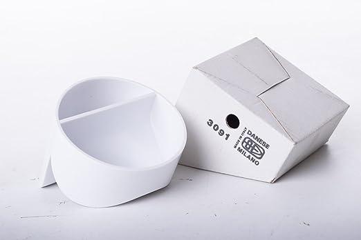 Cenicero de mesa en caja Original designer Enzo mares danés país productor Italia color blanco, de plástico: Amazon.es: Hogar