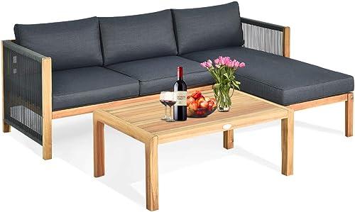 Tangkula L Shape Outdoor Furniture Set