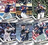 2017 Topps Series 2 Milwaukee Brewers Team Set of 12 Cards: Chase Anderson(#376), Travis Shaw(#452), Hernan Perez(#458), Zach Davies(#477), Jesus Aguilar(#503), Matt Garza(#507), Milwaukee Brewers(#557), Taylor Jungmann(#579), Kirk Nieuwenhuis(#588), Eric Thames(#603), Domingo Santana(#628), Corey Knebel(#646)