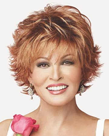 Voltage Large Cap Wispy Bang Short Tousled Raquel Welch Wigs Color R9f26
