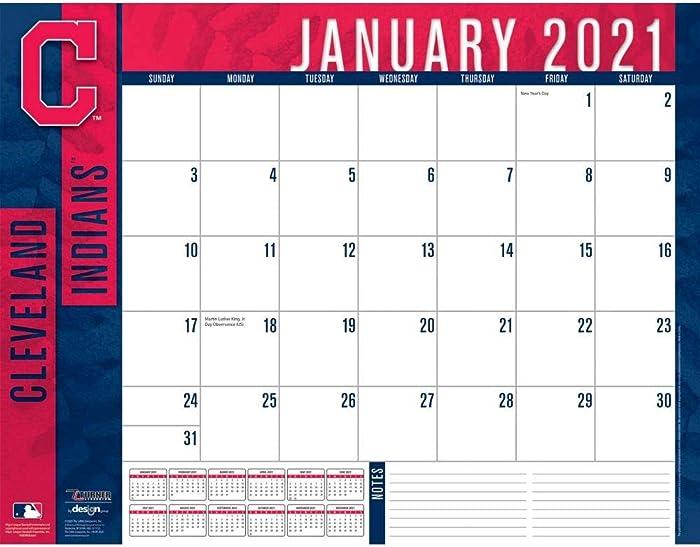 TURNER Sports Cleveland Indians 2021 22X17 Desk Calendar (21998061504)