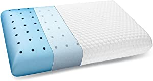 inight Upgraded Memory Foam Pillow, Ventilated Pillows for Sleeping, Pillow for Back & Side Sleeper, Oeko-TEX & CertiPUR-US, Soft and Supportive - White